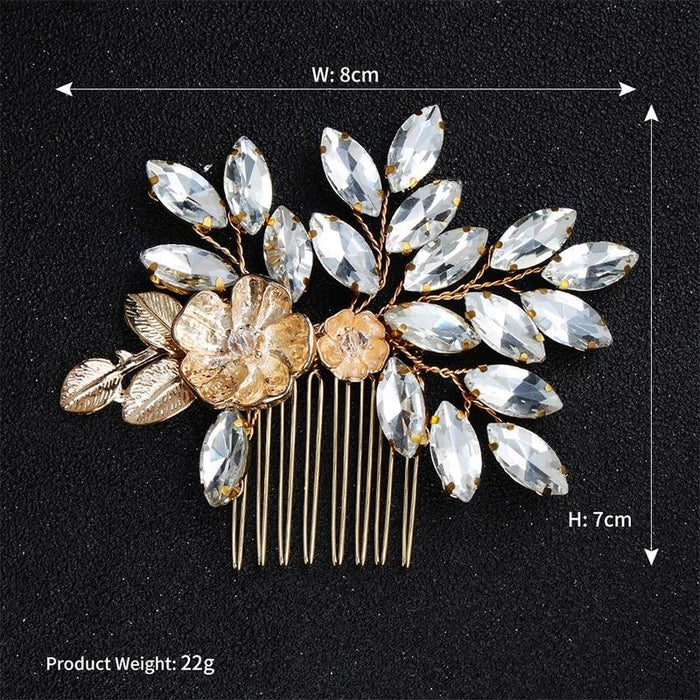 Newest Fashion Flower Rhinestone Combs & Barrettes | Bridelily - combs and barrettes