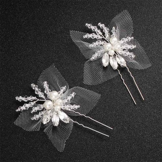 Newest Fashion Handmade Flowers Womens Hairpins | Bridelily - hairpins