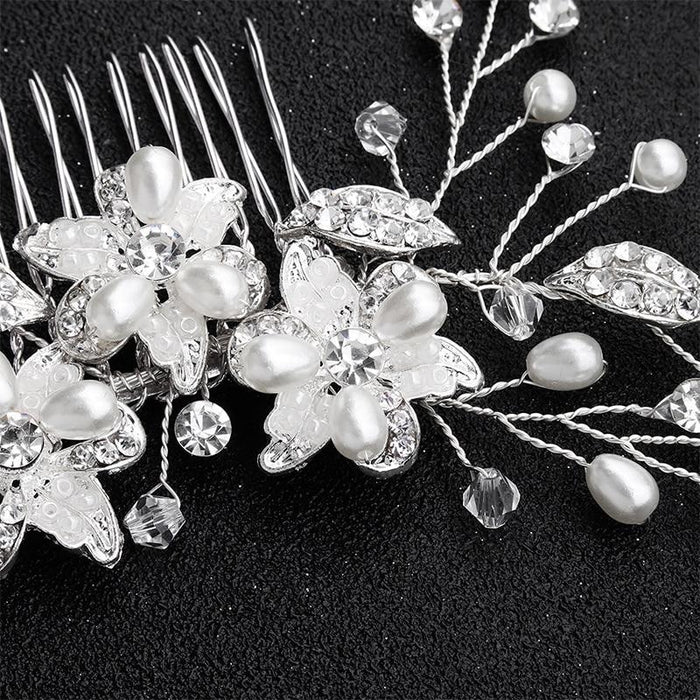 Newest Handmade Crystal Flower Combs & Barrettes | Bridelily - combs and barrettes