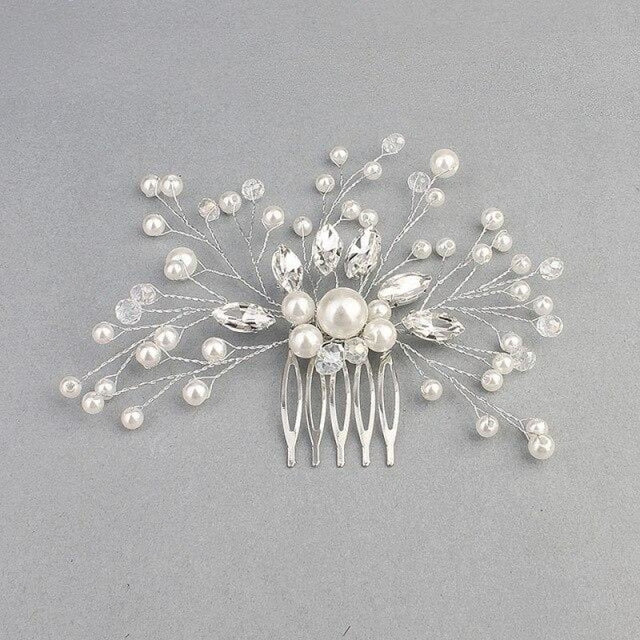 Newest Ivory White Peals Womens Combs & Barrettes | Bridelily - combs and barrettes