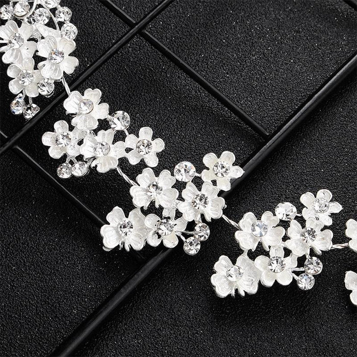 Newest White Small Flowers Womens Headbands | Bridelily - headbands