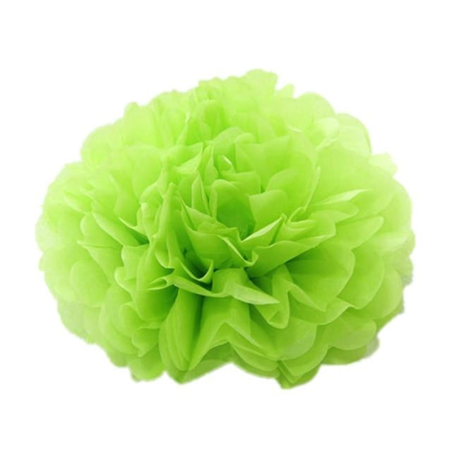 Paper Pompoms Wedding Decorations (5pcs) | Bridelily - light green / 10cm 4inch - wedding decorations
