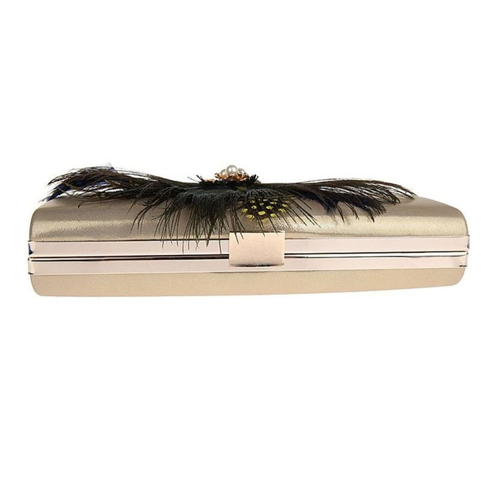 Peacock Feather Pearl Diamond Wedding Handbags | Bridelily - wedding handbags