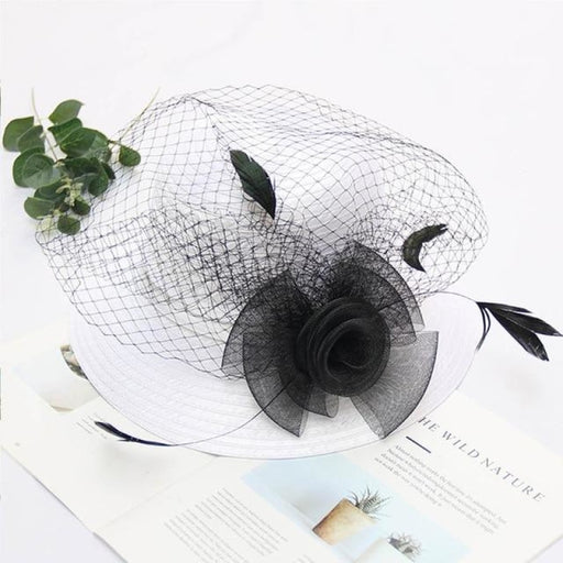 Pearl Flower Church Veils Wide Brim Tea Party Hats | Bridelily - tea party hats