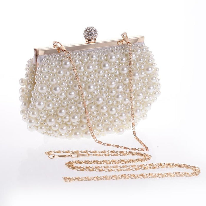 Pearls Fashion Elegant Beaded Wedding Handbags | Bridelily - wedding handbags