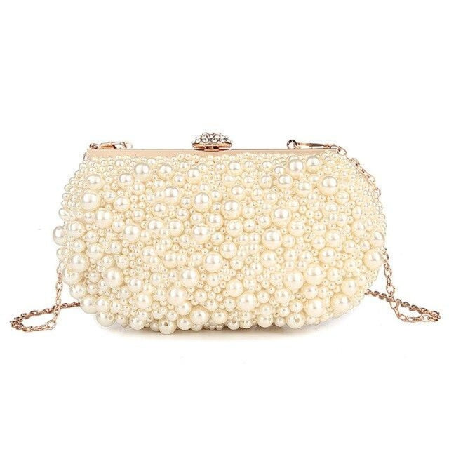Pearls Fashion Elegant Beaded Wedding Handbags | Bridelily - Design B / Mini(Max Length<20cm) - wedding handbags