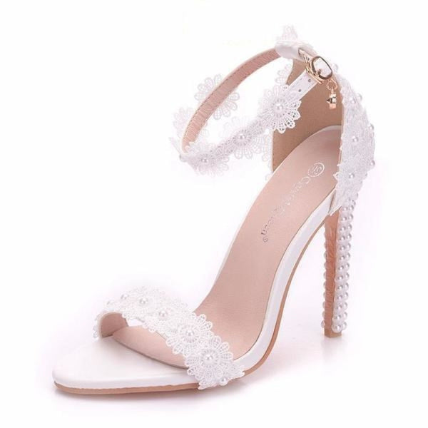 Pearls Lace Handmade Wedding Sandals | Bridelily - wedding sandals