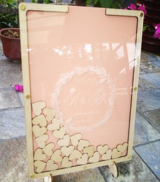 Personalised Wedding Custom Drop Guestbooks | Bridelily - B - guestbooks
