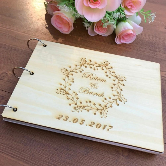 Personalised Wreath Wedding Guestbooks | Bridelily - guestbooks