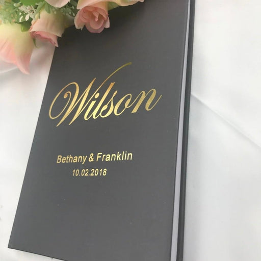 Personalizde Gold Wedding Guestbooks | Bridelily - guestbooks