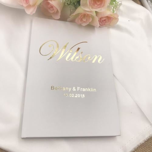 Personalizde Gold Wedding Guestbooks | Bridelily - Olive - guestbooks