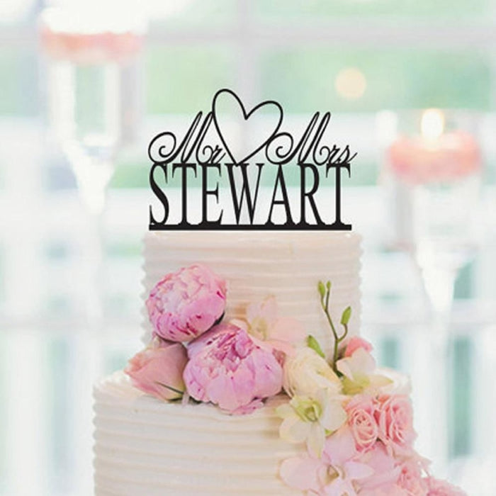Personalize Acrylic Wedding Cake Toppers | Bridelily - cake toppers