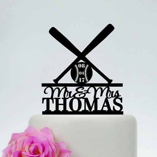 Personalized Baseball Hockey Fan Cake Toppers | Bridelily - cake toppers