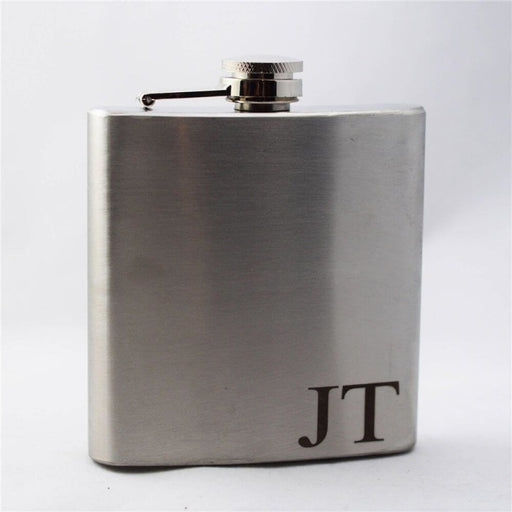 Personalized Black Paited Stainless Steel Flasks | Bridelily - steel flasks