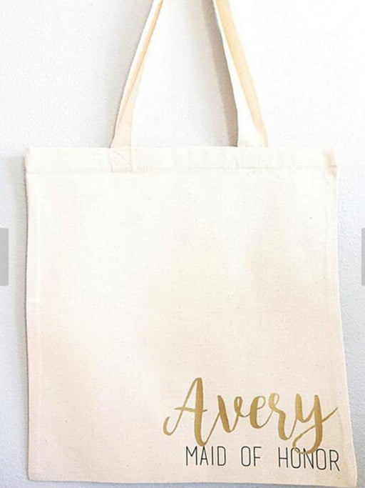 Personalized Bridesmaid Names Wedding Gift Bags | Bridelily - bridesmaid gifts
