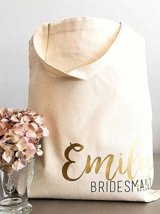 Personalized Bridesmaid Names Wedding Gift Bags | Bridelily - M - bridesmaid gifts