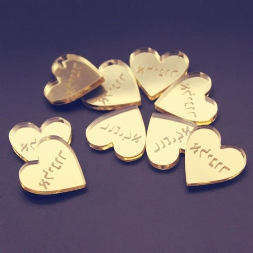 Personalized Card Mirror Surname Favors50pcs | Bridelily - Gold Style / 20mm - personalized favors