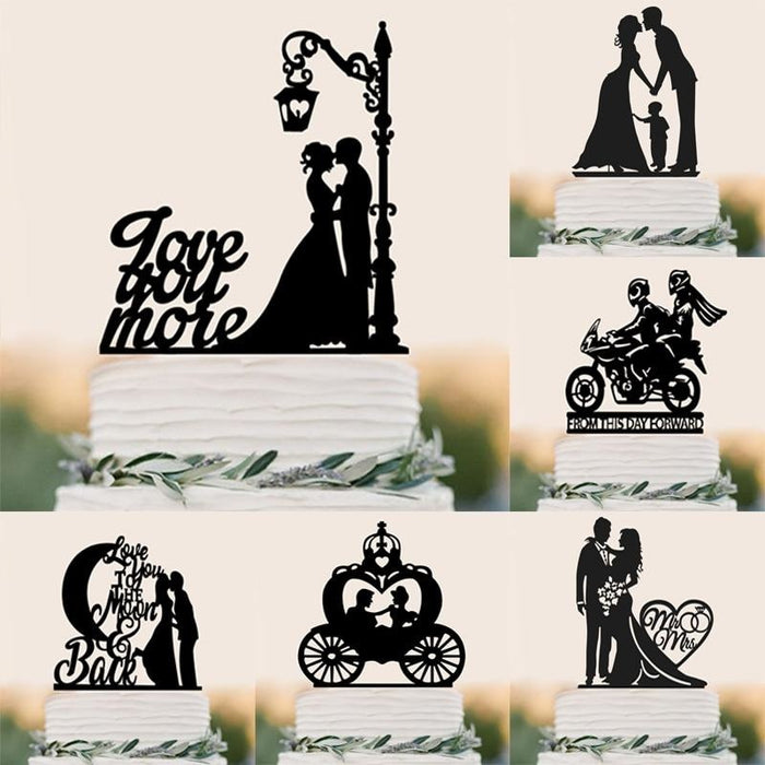 Personalized Classic Couple Wedding Cake Topper | Bridelily - cake toppers
