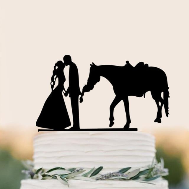 Personalized Classic Couple Wedding Cake Topper | Bridelily - G - cake toppers