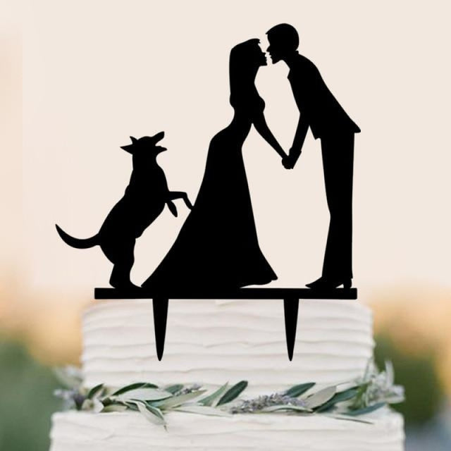 Personalized Classic Couple Wedding Cake Topper | Bridelily - D - cake toppers