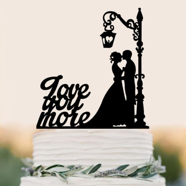 Personalized Classic Couple Wedding Cake Topper | Bridelily - F - cake toppers