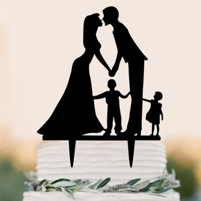 Personalized Classic Couple Wedding Cake Topper | Bridelily - E - cake toppers