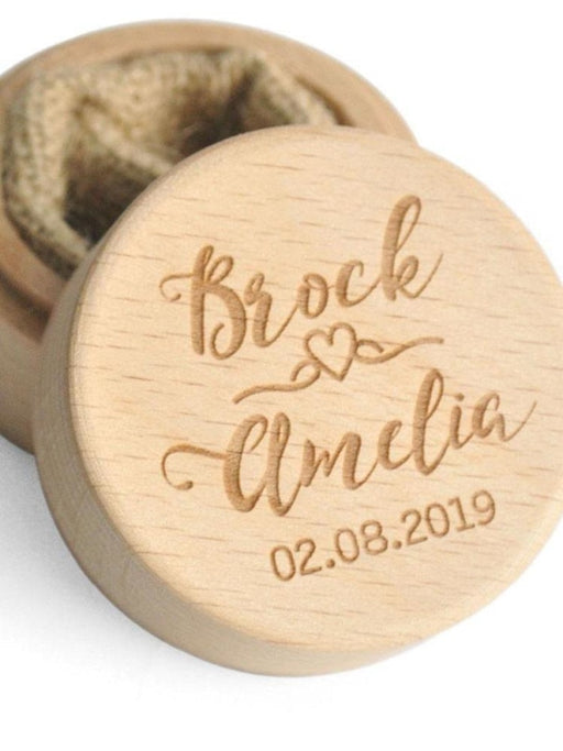 Personalized Engagement Ring Holder Wedding Boxs | Bridelily - RBYM-BoLAX-JJ - bride gifts