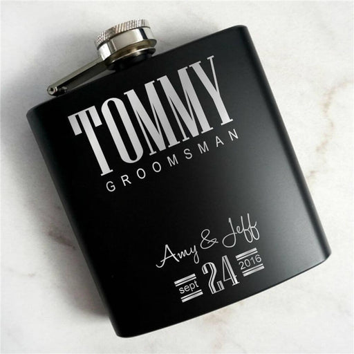 Personalized Engraved Art Words Steel Flasks | Bridelily - steel flasks