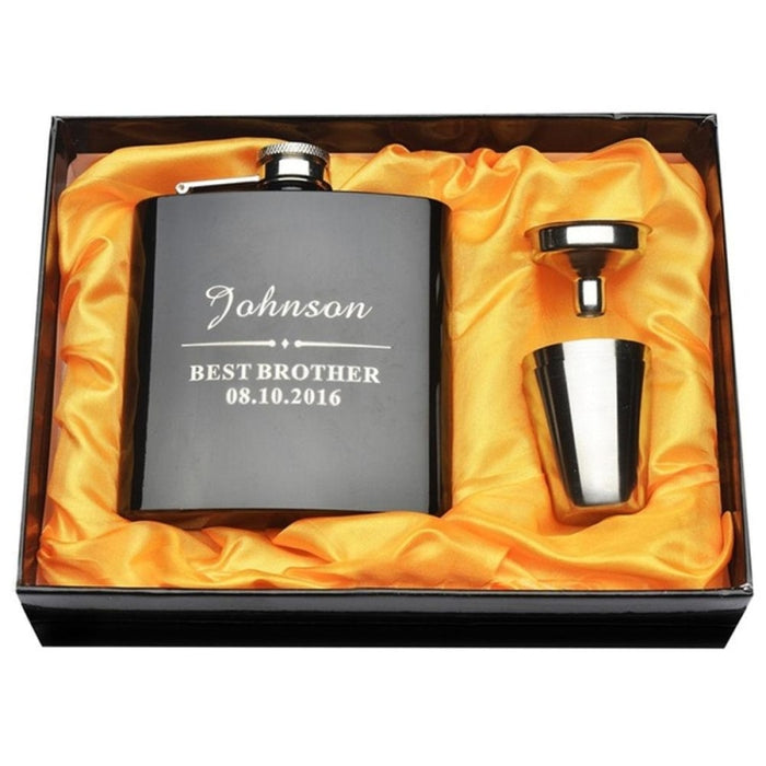 Personalized Favors Brother Steel Flask Sets | Bridelily - steel flasks