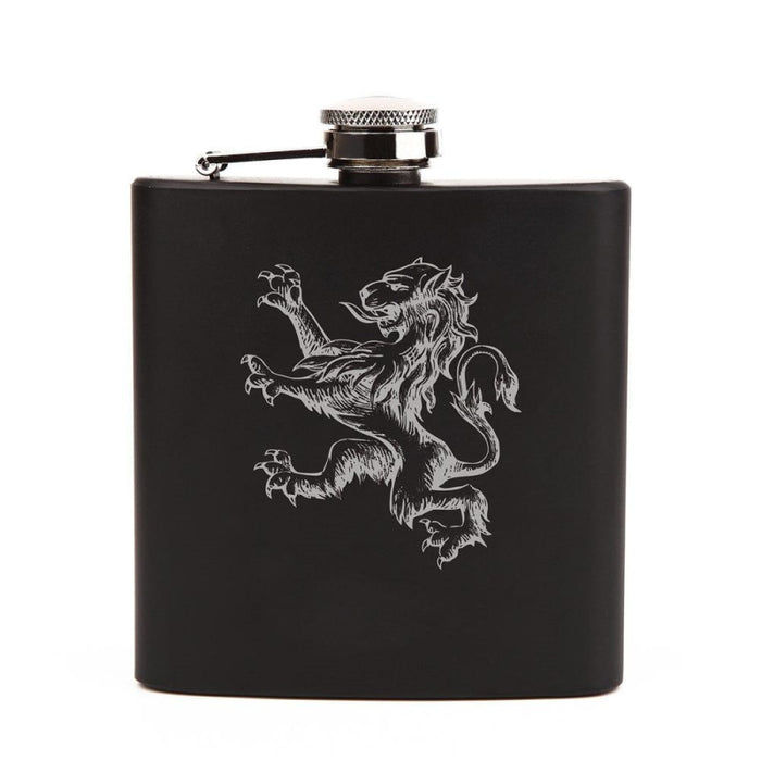 Personalized Favors Pattern Lion Steel Flasks | Bridelily - steel flasks