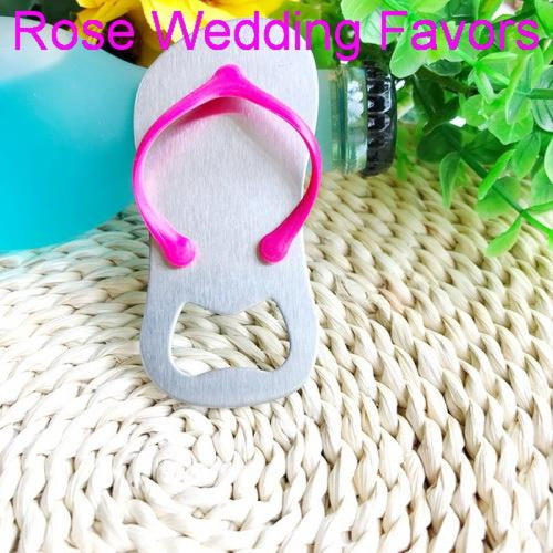 Personalized Flip-flop Bottle Opener & Wedding Gifts | Bridelily - Rose Red / US / Pink Box - groom gifts