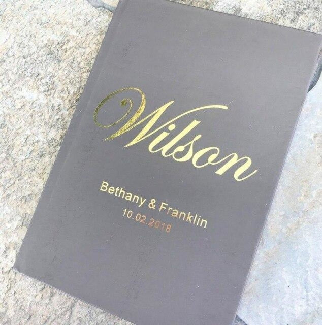 Personalized Foil Wedding A5 Size Guestbooks | Bridelily - 1 1 - guestbooks