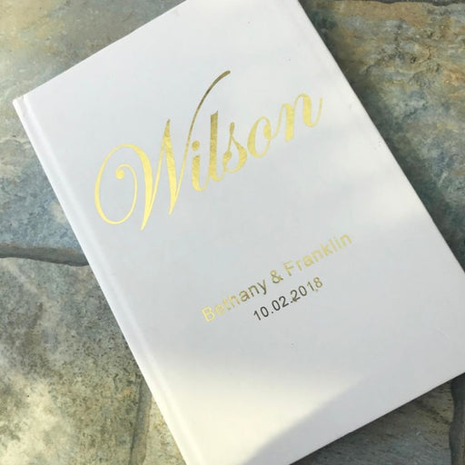 Personalized Foil Wedding A5 Size Guestbooks | Bridelily - guestbooks