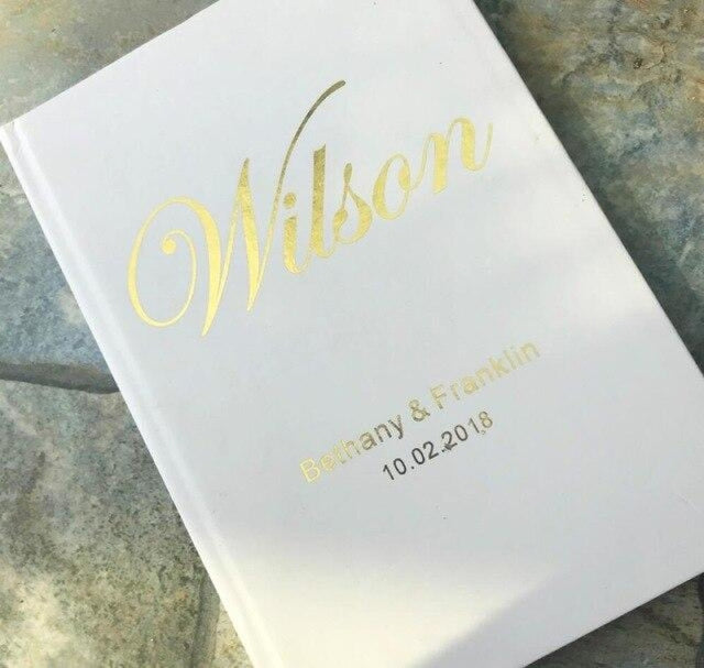 Personalized Foil Wedding A5 Size Guestbooks | Bridelily - 1 - guestbooks