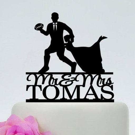 Personalized Football Name Cake Toppers | Bridelily - cake toppers