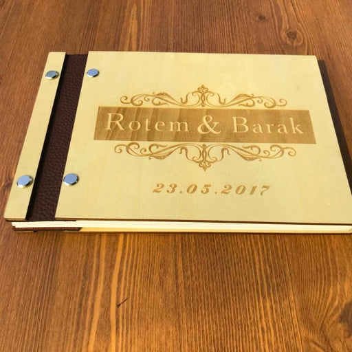 Personalized Initials Rustic Guestbooks | Bridelily - guestbooks