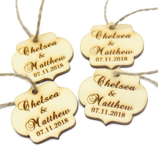 Personalized Lantern Shape Tags Favors30pcs | Bridelily - Tags with String - personalized favors