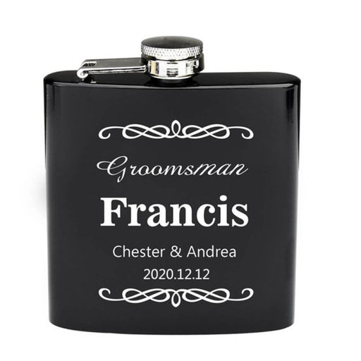 Personalized Muti Color Wine Flagon Steel Flasks | Bridelily - steel flasks