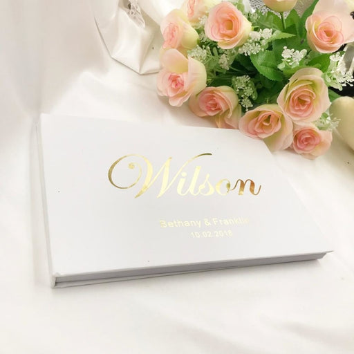 Personalized Name And Date Wedding Guestbooks | Bridelily - guestbooks