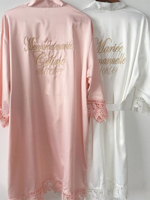 Personalized Name Lace Wedding Robes & Wedding Gifts | Bridelily - bride gifts