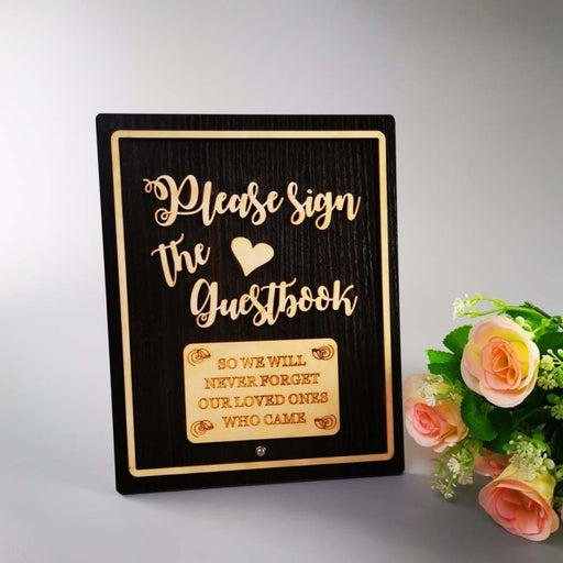 Personalized Please Sign The Guestbooks | Bridelily - guestbooks