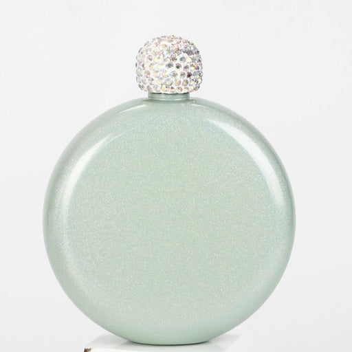 Personalized Sequined Diamond Round Steel Flasks | Bridelily - steel flasks