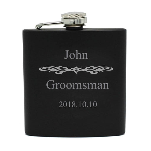 Personalized Single Engraved Steel Flask Sets | Bridelily - steel flasks