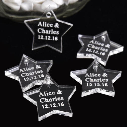 Personalized Star Tag Name Decor Favors50pcs | Bridelily - personalized favors