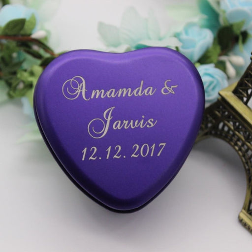 Personalized Tinplate Love Heart Favors10pcs | Bridelily - personalized favors