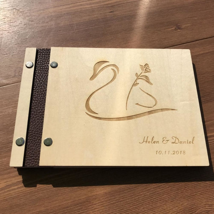 Personalized Wedding Initials Rustic Guestbooks | Bridelily - guestbooks