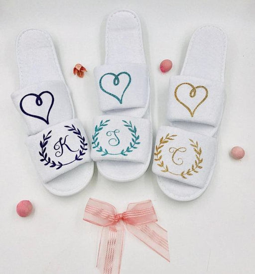 Personalized Wedding Slippers & Party Favors Gifts | Bridelily - 1 pair - bride gifts
