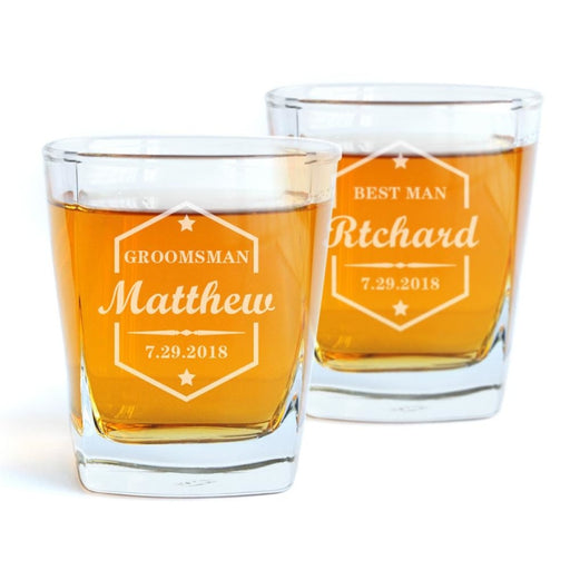 Personalized Whiskey Glass & Wedding Gifts | Bridelily - groomsmen gifts