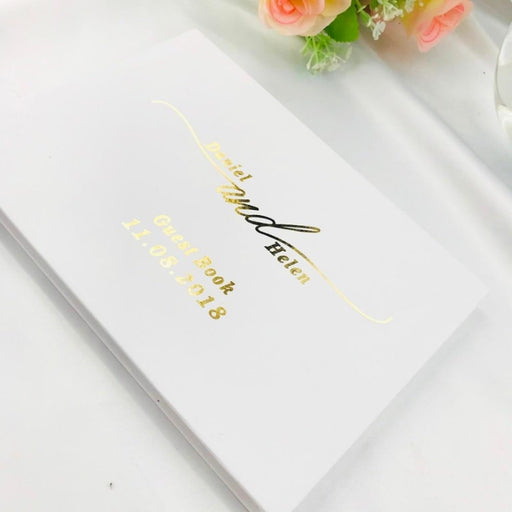 Personalized White Wedding Guestbooks | Bridelily - guestbooks