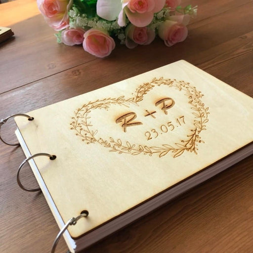 Personalized Wood Rustic Wedding Guestbooks | Bridelily - guestbooks